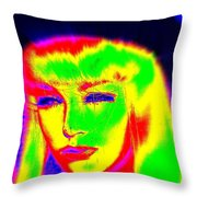 Far Out Felice Throw Pillow