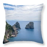 Faraglioni Rocks Throw Pillow