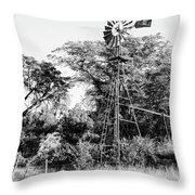 Faraway Windmill Throw Pillow