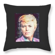 Farewell David Bowie Throw Pillow