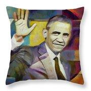 Farewell Obama Throw Pillow