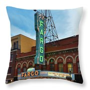 Fargo Theater Throw Pillow
