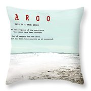 Fargo, This Is A True Story, Art Poster Throw Pillow