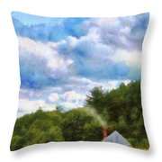 Farm - Barn - Home On The Range II  Throw Pillow