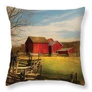Farm - Barn - I Bought The Farm Throw Pillow