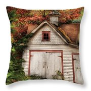Farm - Barn - Our Old Shed Throw Pillow by Mike Savad