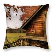 Farm - Barn - Shed Out Back Throw Pillow