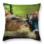 Farm - Cow - Let Mommy Clean That Throw Pillow