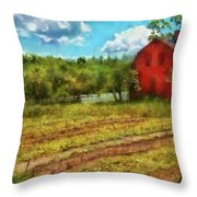 Farm - Farmer - Farm Work  Throw Pillow