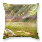Farm - Geese -  Birds Of A Feather - Panorama Throw Pillow