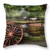 Farm - Horse - Grey Mare Throw Pillow