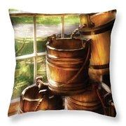Farm - Pail - A Pile Of Pails Throw Pillow
