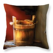Farm - Pail - Water Pail And Ladel Throw Pillow
