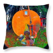 Farm And Logging Machinery Throw Pillow