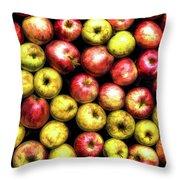 Farm Apples Throw Pillow
