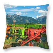 Farm  Art Tractors Throw Pillow