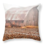 Farm Barn Throw Pillow