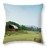 Farm Barn Listing Throw Pillow