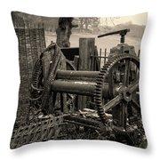 Farm Equipment Art Throw Pillow