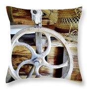 Farm Equipment Corn Sheller Throw Pillow