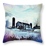 Farm Fantasy Throw Pillow