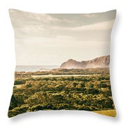 Farm Fields To Seaside Shores Throw Pillow