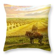 Farm - Finland - Field Of Hope 1899 Throw Pillow