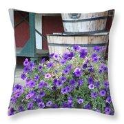 Farm Flowers Throw Pillow