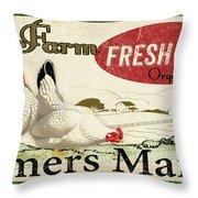 Farm Fresh Eggs-c Throw Pillow
