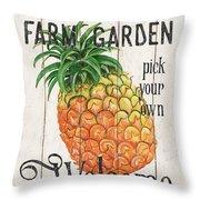 Farm Garden 1 Throw Pillow by Debbie DeWitt