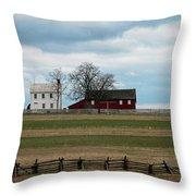 Farm House And Barn Throw Pillow