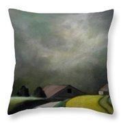 Farm Houses Throw Pillow
