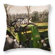 Farm In Chapel Hill Throw Pillow