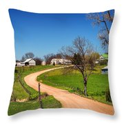 Farm In Gasconade County Mo_dsc4116 Throw Pillow