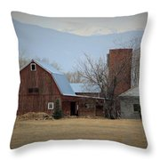 Farm In The Foothills Throw Pillow