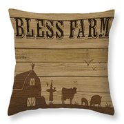 Farm Life-jp3219 Throw Pillow