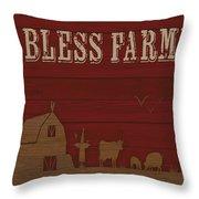 Farm Life-jp3220 Throw Pillow