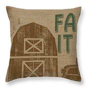 Farm Life-jp3235 Throw Pillow