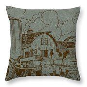 Farm Life-jp3236 Throw Pillow