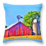 Farm Near Gettysburg Throw Pillow