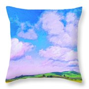 Farm Near San Luis Obispo Throw Pillow