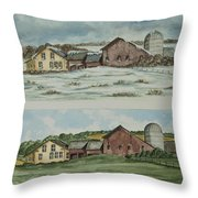 Farm Of Seasons Throw Pillow