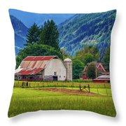 Farm, Randall, Wa Throw Pillow