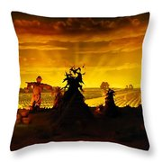 Farm Scape Throw Pillow