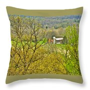 Farm Seen From Culp Hill Lookout In Gettysburg National Military Park-pennsylvania Throw Pillow