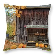 Farm Stand Etna New Hampshire Throw Pillow