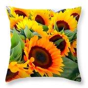 Farm Stand Sunflowers #8 Throw Pillow