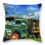 Farm Stand Truck Throw Pillow