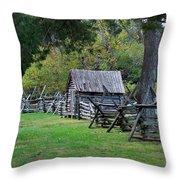 Farm Structures Throw Pillow