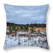 Old Farm Field Li.ny Throw Pillow